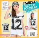 WOB 0724 BROOKLYN Tees - ecer 48rb, 3pcs @44rb - Bahan Kaos
